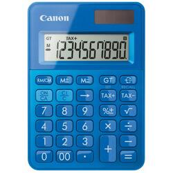 Calculator birou Canon LS100KMBL, 10 digiti, dual power, albastru