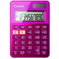 Calculator birou Canon LS100KPOS, 10 digiti, dual power, violet