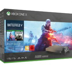 Consola Microsoft Xbox One X - 1TB Battlefield V Gold Rush Special Edition Bundle