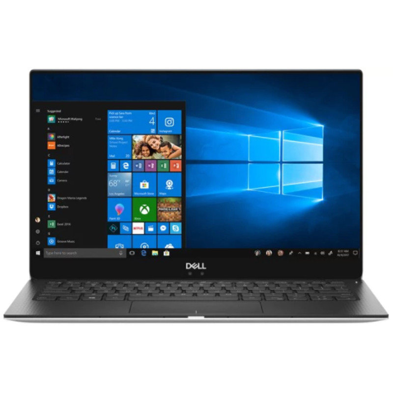 Ultrabook DELL 13.3'' New XPS 13 (9370), FHD InfinityEdge, Procesor Intel® Core™ i5-8250U (6M Cache, up to 3.40 GHz), 8GB, 256GB SSD, GMA UHD 620, FingerPrint Reader, Win 10 Pro, Silver