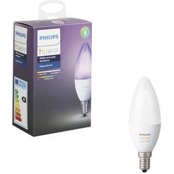 Philips Bec inteligent LED Hue, E14, 6.5W (40W), 470 lm, A+, lumina RGB