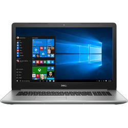Laptop DELL 17.3'' Inspiron 5770 (seria 5000), FHD, Intel Core i3-7020U , 4GB DDR4, 1TB, GMA HD 620, FingerPrint Reader, Win 10 Home, Silver, 3Yr CIS