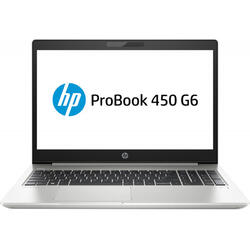 Laptop HP 15.6'' ProBook 450 G6, FHD, Intel Core i5-8265U , 16GB DDR4, 1TB + 256GB SSD, GeForce MX130 2GB, FreeDos, Silver