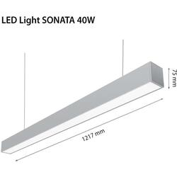 2R Lampa LED Sonata, 40W, IP20, 230V, lumina neutral (4000K)