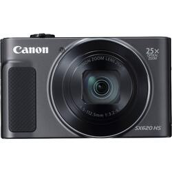 Aparat foto digital Canon SX620HS, 20.2MP, Negru + Card de memorie 16 GB + Husa