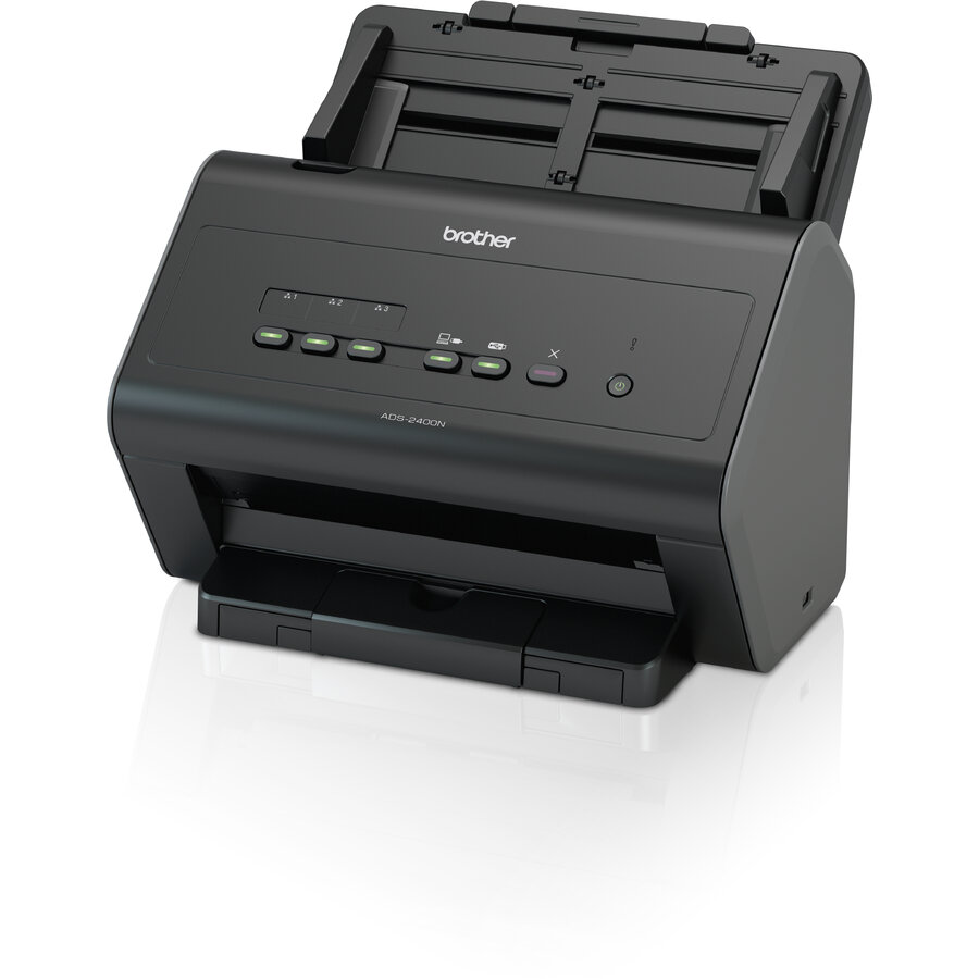 Scanner Brother ADS-2400N format A4, 30 ppm, dual CIS, ADF, retea poza 2021