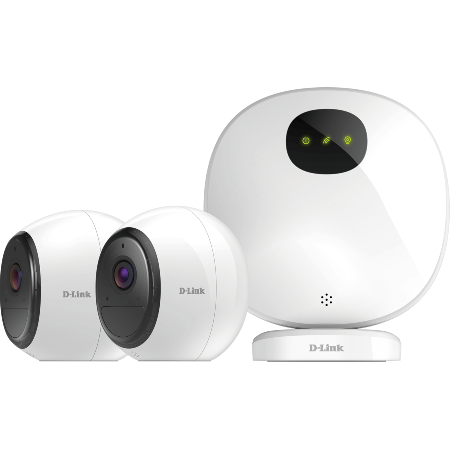 Pro Wire-Free Camera Kit, Indoor Security Camera Hub + 2 Wire-Free Wi-Fi Battery Cameras poza 2021