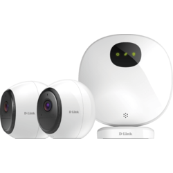 D-Link Pro Wire-Free Camera Kit, Indoor Security Camera Hub + 2 Wire-Free Wi-Fi Battery Cameras