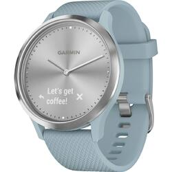 Ceas smartwatch Garmin Vivomove HR Sport, Small/Medium, Seafoam, Silver