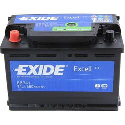 EXIDE Baterie auto Excell 74Ah, 680A