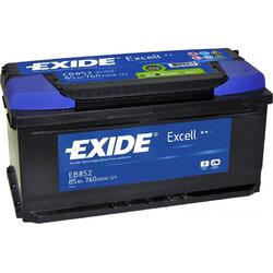 EXIDE Baterie auto Excell 85Ah, 760A