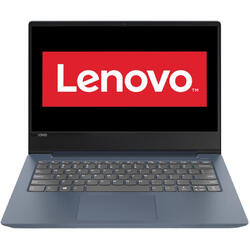 Ultrabook Lenovo 14'' IdeaPad 330S IKB, FHD IPS, Intel Core i5-8250U , 8GB DDR4, 256GB SSD, GMA UHD 620, FreeDos, Midnight Blue