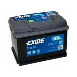EXIDE Baterie auto Excell 60Ah, 540A
