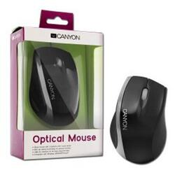 CANYON Wired optical mouse 3 buttons, DPI 1000, USB2.0, Black/Silver
