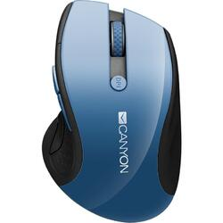 CANYON Wireless mouse, optical tracking - blue LED, 6 buttons, DPI 1000/1200/1600, Blue Gray pearl glossy