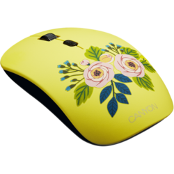 CANYON Wireless opticalmouse 4 buttons, DPI 800/1200/1600, 1 additional cover(Roses), black