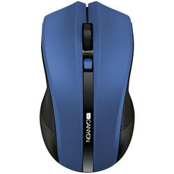 CANYON Wireless opticalmouse 4 buttons, DPI 800/1200/1600,blue