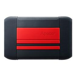 APACER HDD Extern  AC633 2.5'' 2TB USB 3.1, shockproof military grade, Red