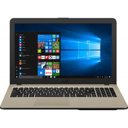 Laptop ASUS 15.6'' VivoBook 15 X540MA, HD, Intel Celeron N4000 , 4GB DDR4, 256GB SSD, GMA UHD 600, Win 10 Home, Chocolate Black, No ODD