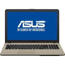 "Laptop ASUS VivoBook 15 X540UA, Intel Pentium Gold 4417U 2.30 GHz, 15.6"", 4GB, 1TB, Intel HD 610, Endless OS, Chocolate Black"