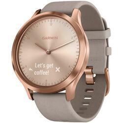 Ceas smartwatch Garmin Vivomove HR, Rose Gold, Gray Suede Band