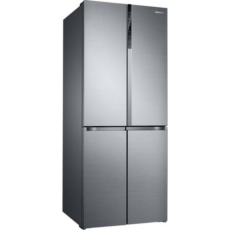 Side by side Samsung RF50K5920S8/EO, 486 l, Clasa F, Full No Frost, Compresor Digital Inverter, All Around Cooling, Triple Cooling, Afisaj LED, Touch Control, Inox