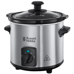 Slow cooker Russell Hobbs Compact Home 25570-56, 145 W, 2 L, Design compact, Vas ceramic, Inox