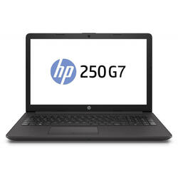 "Laptop HP 15.6"" 250 G7, HD, Intel Core i3-7020U , 4GB DDR4, 500GB, GMA HD 620, FreeDos, Dark Ash Silver, No ODD"