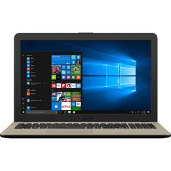 Laptop ASUS 15.6'' VivoBook 15 X540MA, HD, Intel Celeron N4000 , 4GB DDR4, 500GB, GMA UHD 600, Win 10 Home, Chocolate Black, No ODD