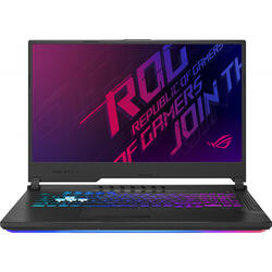 Laptop ASUS Gaming 17.3'' ROG Strix G G731GT, FHD, Intel Core i7-9750H,  8GB DDR4, 512GB SSD, GeForce GTX 1650 4GB, No OS, Black