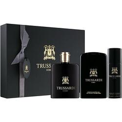 Trussardi Set cadou barbati Uomo 2011 Deluxe apa de toaleta 100 ml + gel de dus 200 ml + deodorant spray 100 ml