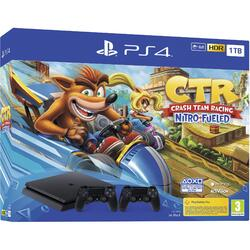 Sony Consola PlayStation 4 1TB + Joc Crash Team Racing + Extra Controller