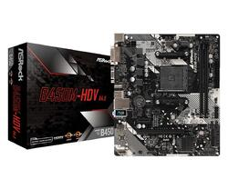 ASROCK Placa de baza Socket AM4, B450M-HDV R4.0