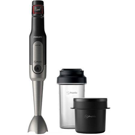 Mixer vertical Philips Viva Collection HR2651/90, 800 W, Viteza variabila + Turbo, recipient on-the-go si supa, Negru
