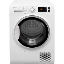 Uscator rufe Hotpoint Natis Reload NTM118X3SKEU, Pompa de caldura, 8 kg, Clasa A+++, Motor Inverter, Active Care, Display digital, Alb