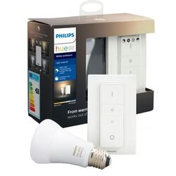 Philips Kit Hue de reglare wireless a intensității, 1x E27, 8.5W (60W), temperatura culoare 2200-6500K, 806 lumeni, intrerupător cu variator inclus