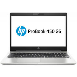 Laptop HP 15.6'' ProBook 450 G6, FHD, i5-8265U , 8GB DDR4, 1TB, GeForce MX130 2GB, FreeDos, Silver