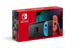 NINTENDO SWITCH CONSOLE (WITH NEON RED & NEON BLUE JOY-CONS) HAD - GDG