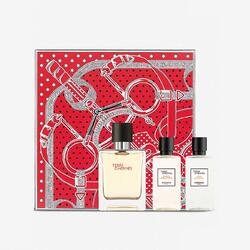 Hermes Set cadou barbati Terre d'Hermes Eau Intense Vetiver apa de toaleta 50 ml + after shave 40 ml + gel de dus 40 ml