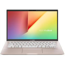 Laptop ASUS 14'' VivoBook S14 S431FA, FHD, Intel Core i5-8265U, 8GB, 256GB SSD, GMA UHD 620, No OS, Punk Pink