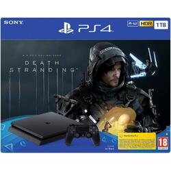 Sony Consola PlayStation 4 Slim, 1TB, Jet Black + joc Death Stranding
