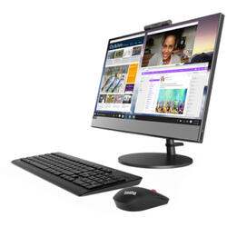Sistem All-In-One Lenovo 21.5'' V530, FHD IPS, Intel Core i5-9400T 1.8GHz Coffee Lake, 8GB, 256GB SSD, GMA UHD 630, FreeDos, Black