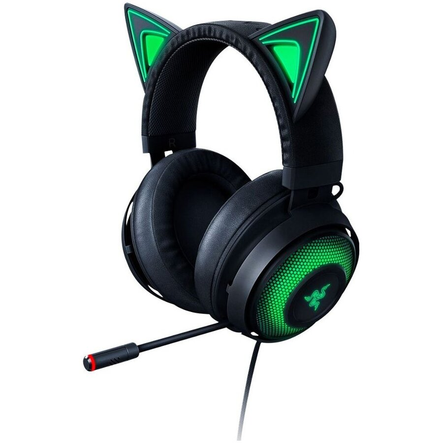 Casti Gaming Razer Kraken 2019 Kitty Edition, Multiplatforma, Negru