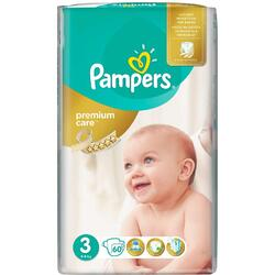 Scutece Pampers Premium Care 3 Midi Value Pack, 60 bucati