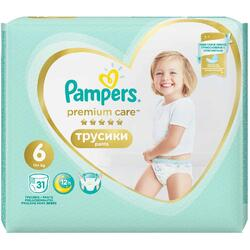 Scutece Pampers Premium Care Pants 6 Value Pack, 31 bucati