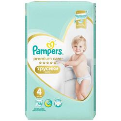 Scutece Pampers Premium Care Pants 4 Mega Box, 58 bucati