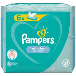 Servetele umede Pampers Fresh Clean 6 pachete x 52 bucati