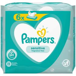 Servetele umede Pampers Sensitive 6 x 52 bucati