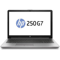 "Laptop HP 15.6"" 250 G7, FHD, Intel Core i3-8130U, 4GB DDR4, 1TB, GMA UHD 620, FreeDos, Ash Silver"