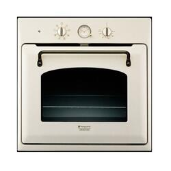 Cuptor incorporabil electric Hotpoint FT 850.1 OW/HA, 56 l, grill, timer, program Pizza, clasa A, old white